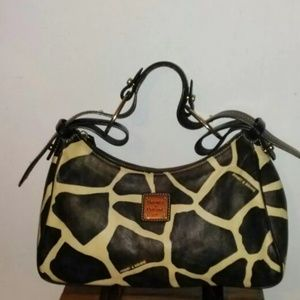 Dooney and Bourke leather giraffe pattern handbag